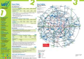 Mvv Zonen Karte.Mvv Netzplane Mvv Tarifplane Und Mvv Verkehrslinienplane Mvv