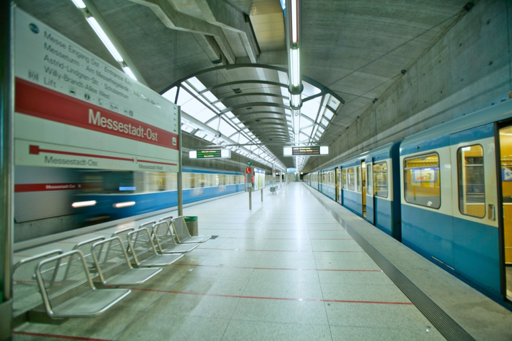 Bahnhof Messestadt Ost Mvv