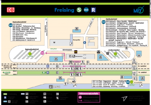 Bahnhof Freising Mvv